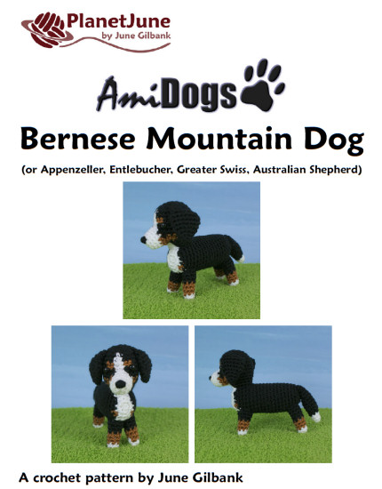Amidogs Bernese Mountain Dog Amigurumi Crochet Pattern Planetjune