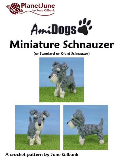 Amidogs Miniature Schnauzer Amigurumi Crochet Pattern Planetjune