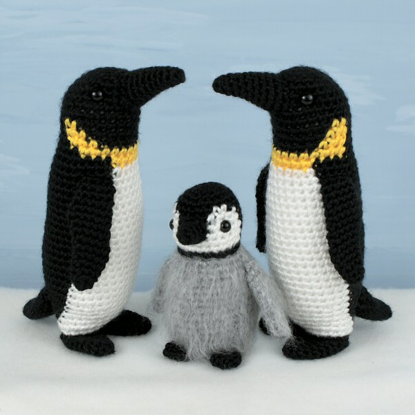 Emperor Penguin Family Amigurumi Crochet Patterns Adult Baby