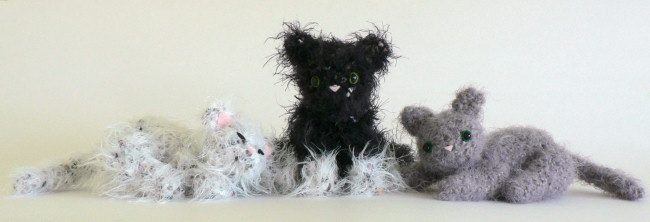 Fuzzy Kitten amigurumi crochet pattern - Click Image to Close