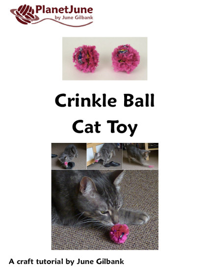 Crinkle Ball Cat Toy DONATIONWARE craft tutorial - Click Image to Close