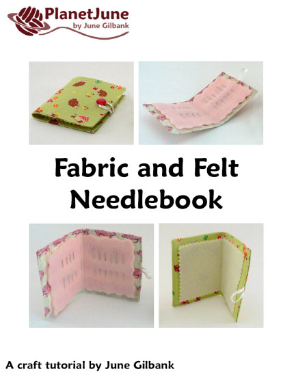 Fabric and Felt Needlebook DONATIONWARE craft tutorial - Click Image to Close
