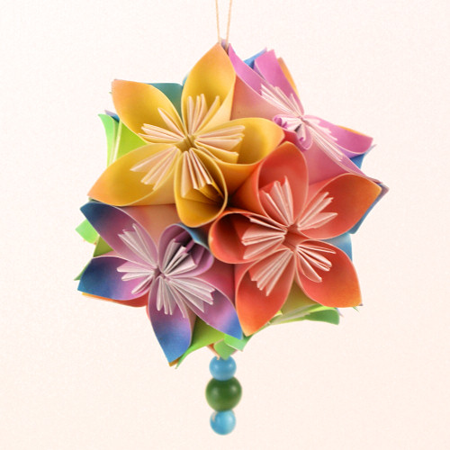 Kusudama Flowers DONATIONWARE Paper Craft Tutorial Larger Image
