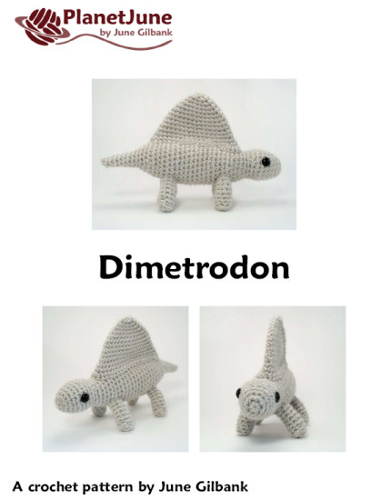 Dimetrodon - amigurumi dinosaur crochet pattern - Click Image to Close