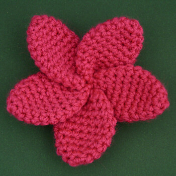 Plumeria DONATIONWARE flower crochet pattern - Click Image to Close