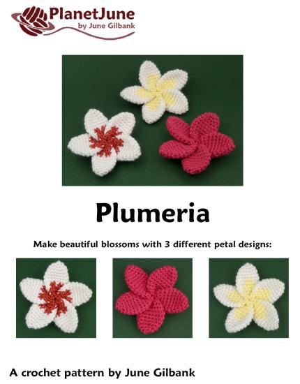 Hawaiian Plumeria Flower Crochet Pattern - Flowers Healthy