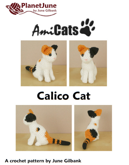 AmiCats Calico Cat amigurumi crochet pattern - Click Image to Close