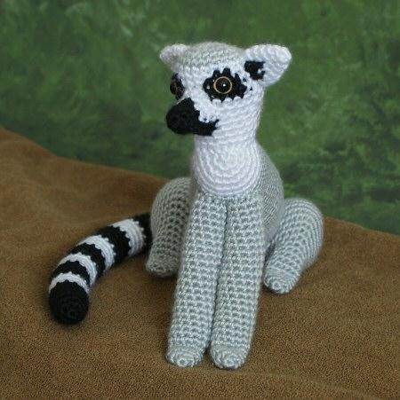 Ravelry: Sartù the Lemur - amigurumi pattern by Ilaria Caliri (aka ... | 451x450