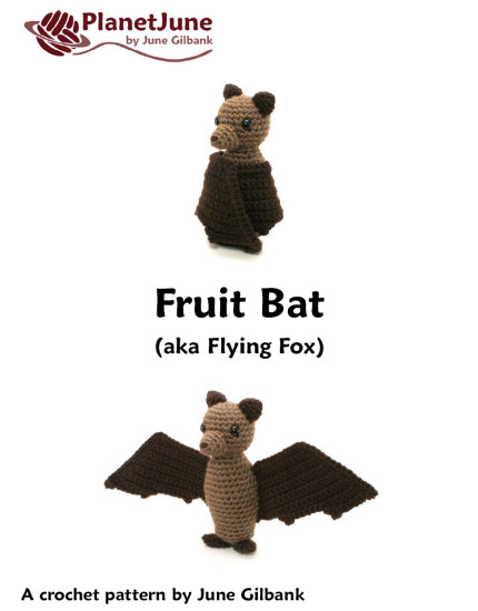 Fruit Bat (Flying Fox) amigurumi crochet pattern - Click Image to Close