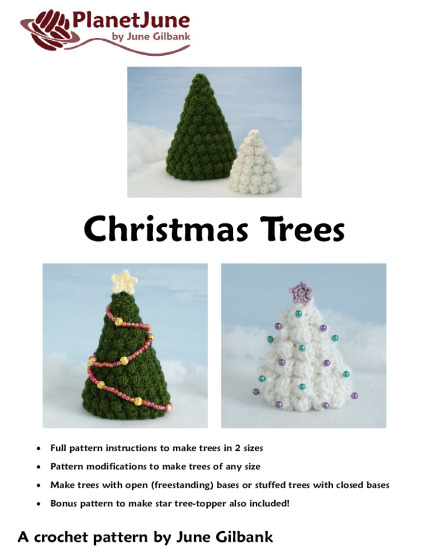 Christmas Trees crochet pattern - Click Image to Close