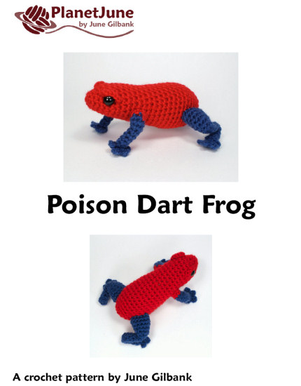 Poison Dart Frog amigurumi crochet pattern - Click Image to Close
