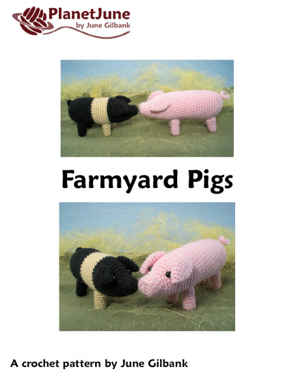 Farmyard Pigs amigurumi crochet pattern - Click Image to Close