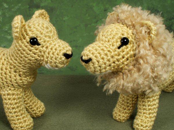 Lion And Lioness Amigurumi Crochet Pattern Planetjune Shop Cute