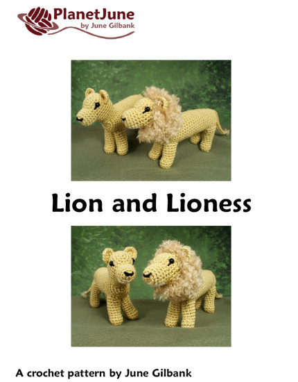 Lion and Lioness amigurumi crochet pattern - Click Image to Close