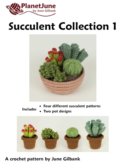 Succulent Collection 1: FOUR realistic crochet patterns - Click Image to Close