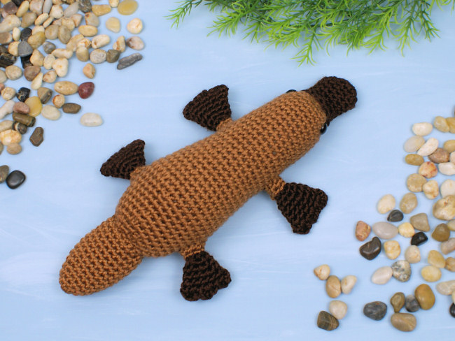 Platypus amigurumi crochet pattern - Click Image to Close