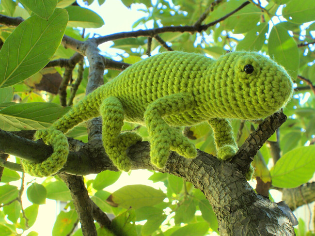 Chameleon (lizard) amigurumi crochet pattern - Click Image to Close