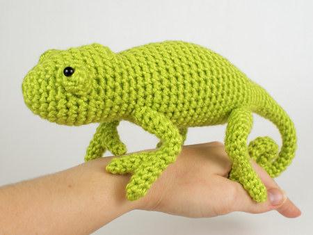 Chameleon Lizard Amigurumi Crochet Pattern Planetjune Shop Cute