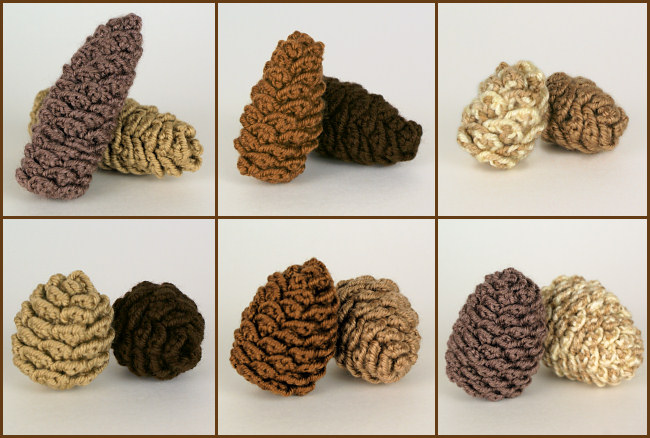Pine Cone Collection: SIX realistic crochet patterns - Click Image to Close