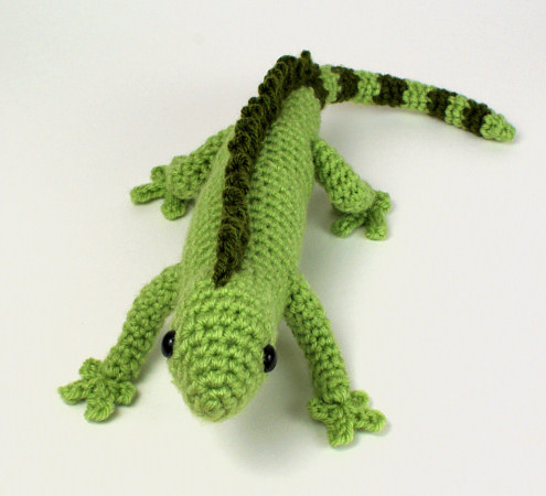 Iguana Lizard Amigurumi Crochet Pattern Planetjune Shop Cute