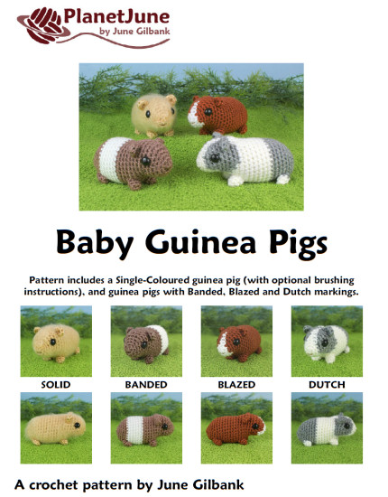 Baby Guinea Pigs - four amigurumi crochet patterns - Click Image to Close