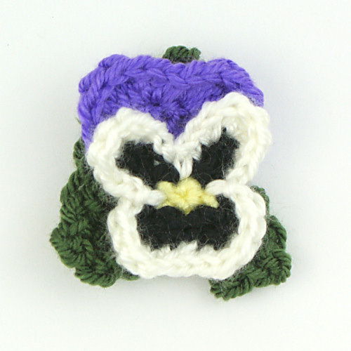 Pansies crochet pattern (pansy baskets) - Click Image to Close