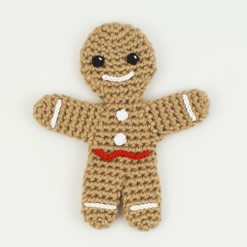 Gingerbread Man amigurumi crochet pattern - Click Image to Close