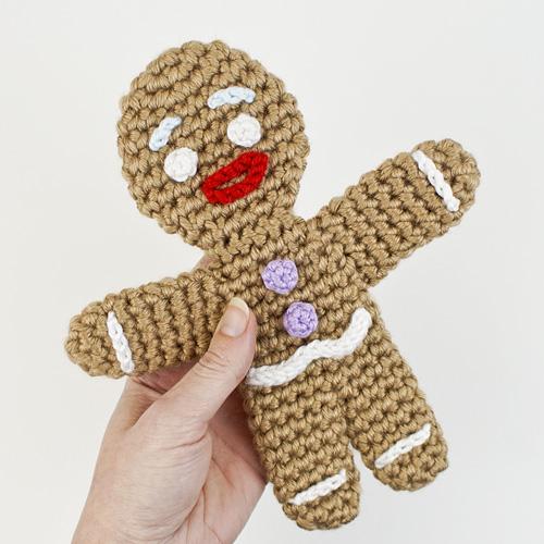 Gingerbread Man Amigurumi Crochet Pattern Mp048 Usd 550