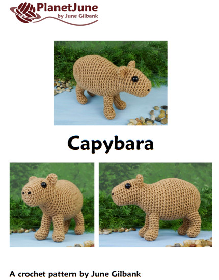 Capybara amigurumi crochet pattern - Click Image to Close