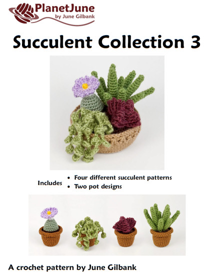Succulent Collection 3: FOUR realistic crochet patterns - Click Image to Close