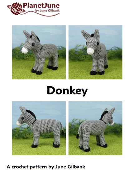 Donkey amigurumi crochet pattern - Click Image to Close