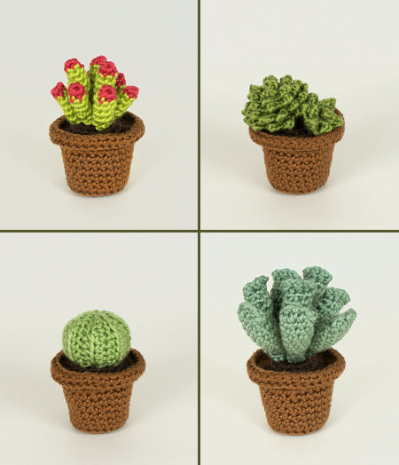 Succulent Collections 1 and 2 - EIGHT crochet patterns - Click Image to Close