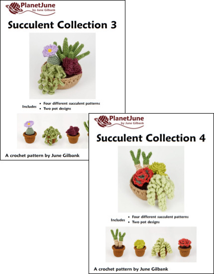 Succulent Collections 3 and 4 - EIGHT crochet patterns - Click Image to Close