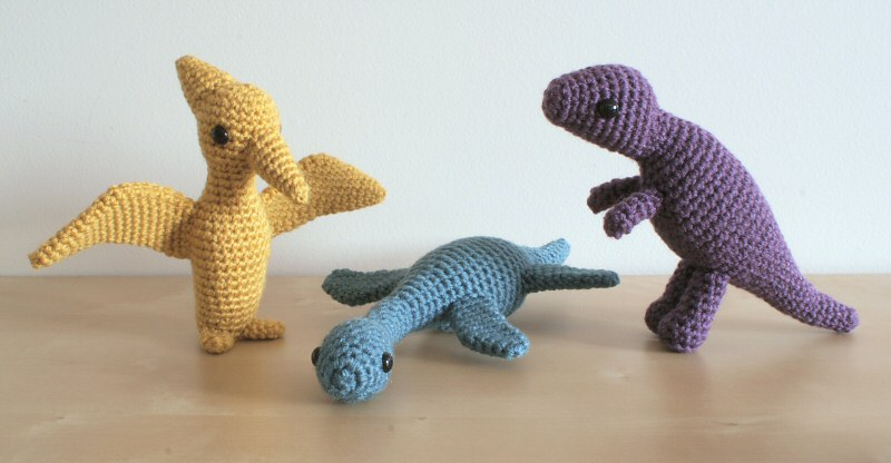 Dinosaurs Sets 2 & 2X - SIX amigurumi crochet patterns - Click Image to Close