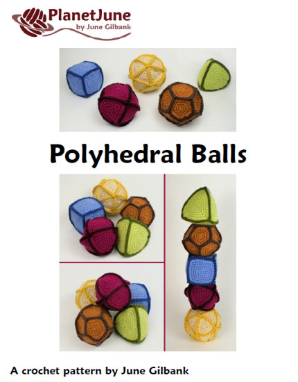 Polyhedral Balls, Gaming Dice, Cuboctahedron: 7 crochet patterns - Click Image to Close