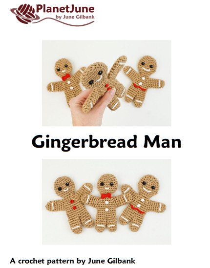 Gingerbread Family - TWO amigurumi crochet patterns - Click Image to Close
