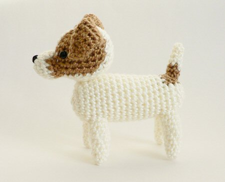 102 Crochet Pattern - Welsh Terrier dog with wire frame ... | 365x450