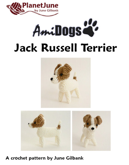AmiDogs Jack Russell Terrier amigurumi crochet pattern - Click Image to Close
